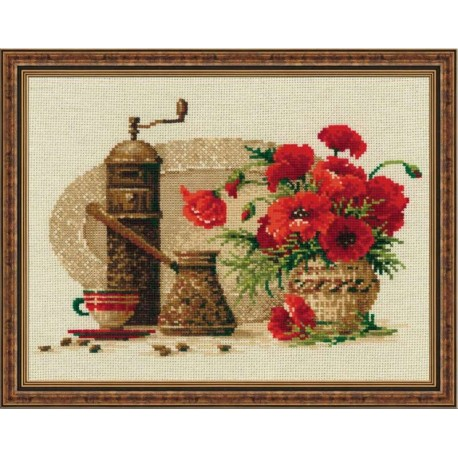 Coffee - Cross Stitch Kit from RIOLIS Ref. no.:1121