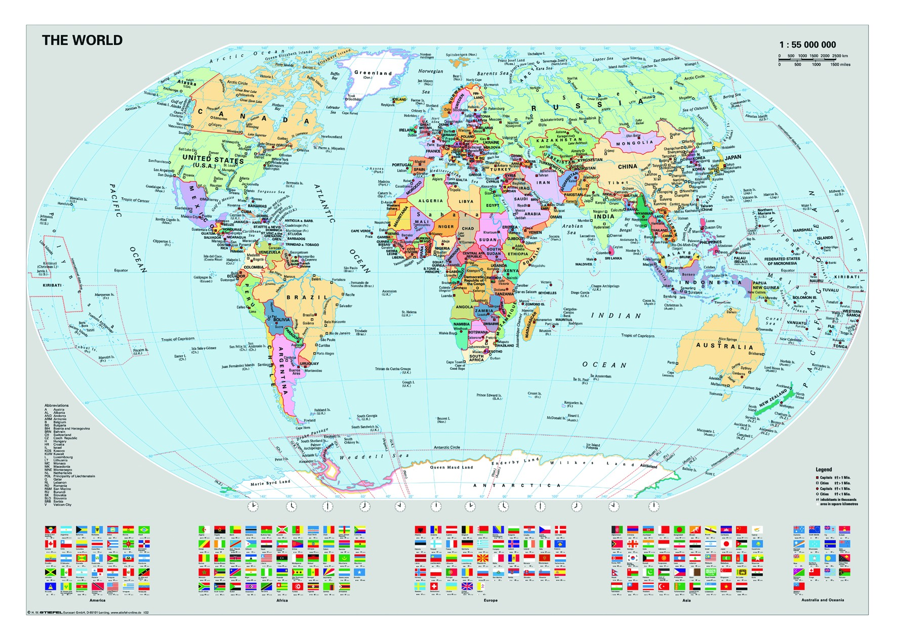 Map Of The World Map Of The World.Ravensburger Dėlionė Puzzle 1000 Political World Map