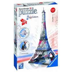 "Ravensburger dėlionė ""3D Puzzle Flag Edition Eiffel Tower - Paris"""