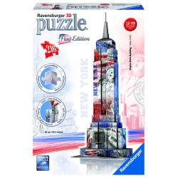 "Ravensburger dėlionė ""3D Puzzle Flag Edition Empire State Buildding - New York"""