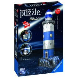 "Ravensburger dėlionė ""3D Puzzle Light House. Night Edition"""