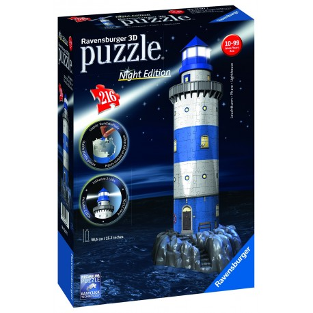 "Ravensburger dėlionė ""3D Puzzle Light House. Night Edition"""