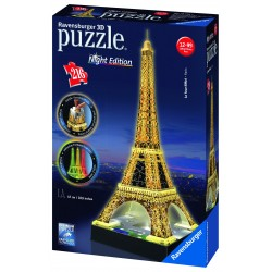 "Ravensburger dėlionė ""3D Puzzle Eiffel Tower. Night Edition"""