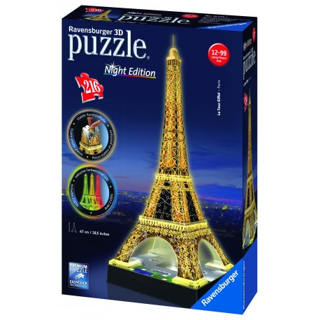 "Ravensburger dėlionė ""3D Puzzle Eiffel Tower. Night Edition"""