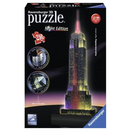"Ravensburger dėlionė ""3D puzzle Empire State Building. Night Edition"""
