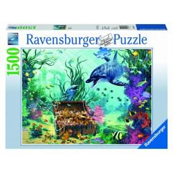 "Ravensburger dėlionė ""Puzzle 1500 Dolphin Treasure"""