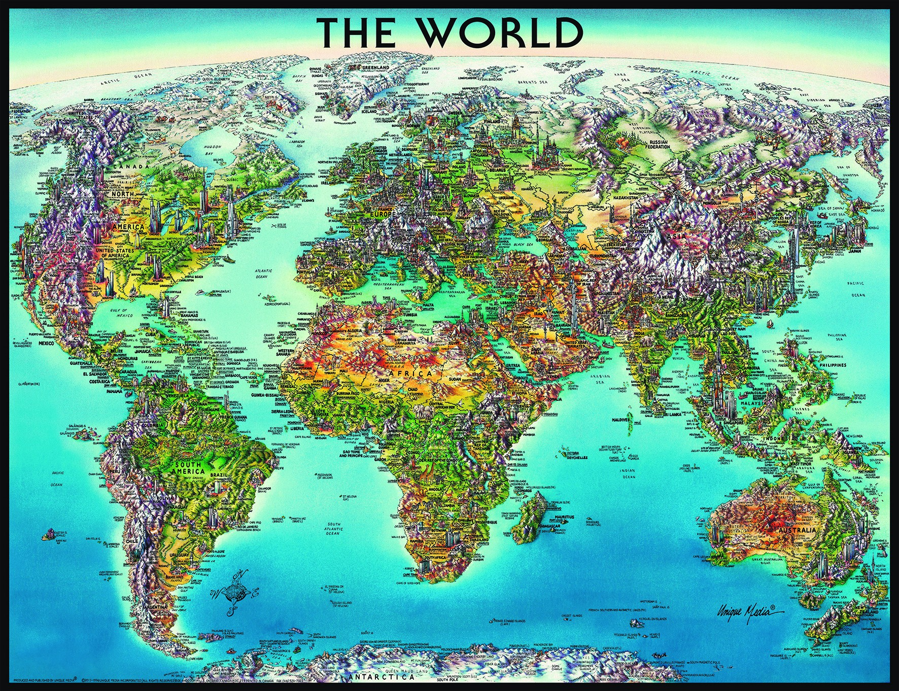 A Picture Of The World Map.Ravensburger Dėlionė Puzzle 2000 World Map