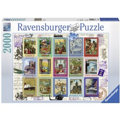 "Ravensburger dėlionė ""Puzzle 2000 Vacation Stamps"""