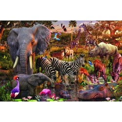 "Ravensburger dėlionė ""Puzzle 3000 African Animal World"""