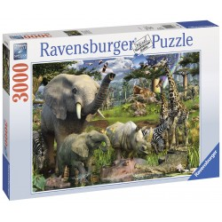 "Ravensburger dėlionė ""Puzzle 3000 Animals at the Waterhole"""