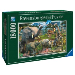 "Ravensburger dėlionė ""Puzzle 18000 At the Waterhole"""