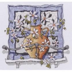 """Michael Powell Siuvinėjimo rinkinys """"Langas į Graikiją"""" SX36 (25x24 cm)"""