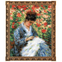 Camille Monet after C.Monet's Painting - Cross Stitch Kit from RIOLIS Ref. no.:100/051