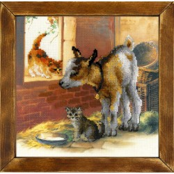 Goatling and Kittens - Cross Stitch Kit from RIOLIS Ref. no.:0053 PT