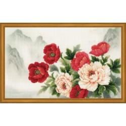 Oriental Bouquet - Cross Stitch Kit from RIOLIS Ref. no.:0050 PT