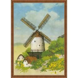"""RIOLIS: Siuvinėjimo rinkinys su ant medžiagos atspaustu piešiniu """"Malūnas"""" 0045 PT (21x30 cm)"""