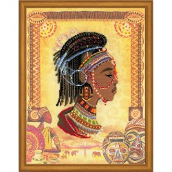 African Princess - Cross Stitch Kit from RIOLIS Ref. no.:0047 PT
