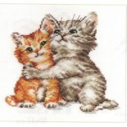 """Alisa Siuvinėjimo rinkinys """"Tikri draugai"""" 0-69 (16x15 cm)"""