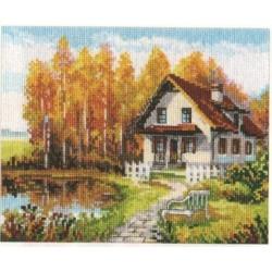 """Alisa Siuvinėjimo rinkinys """"Poilsio mansarda"""" 3-14 (21x17 cm)"""