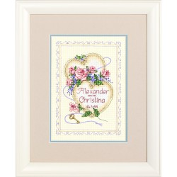 DIMENSIONS United Hearts Wedding Record, Counted Cross Stitch_06730