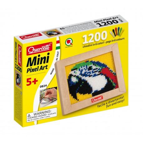 """Pikselių menas: Pixel Art Mini 1200pix """"Papūga"""" -  1 dalies (21x17 cm)"""