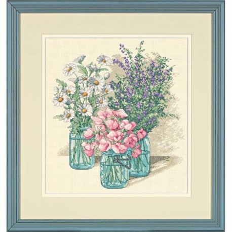 DIMENSIONS Wildflower Trio, Counted Cross Stitch_35122