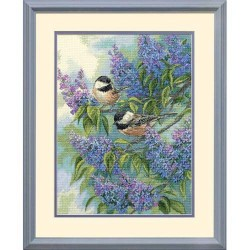 DIMENSIONS Chickadees and Lilacs, Counted Cross Stitch_35258