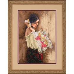 DIMENSIONS Woman with Bouquet, Counted Cross Stitch_70-35274