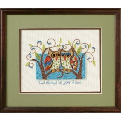 DIMENSIONS Owl Always Be Your Friend, Stamped Cross Stitch_73399