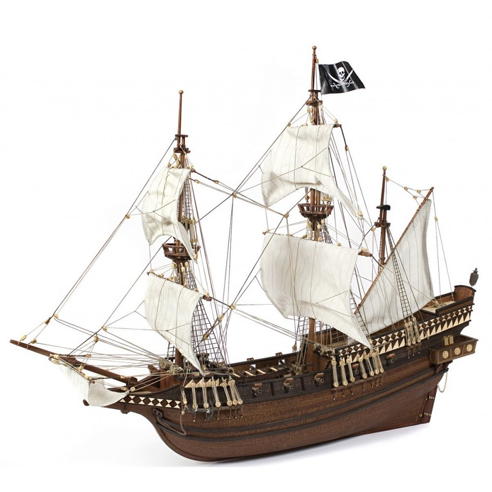 Occre Buccaneer Wooden Pirate Galleon 1100 Scale Model Ship Kit 12002