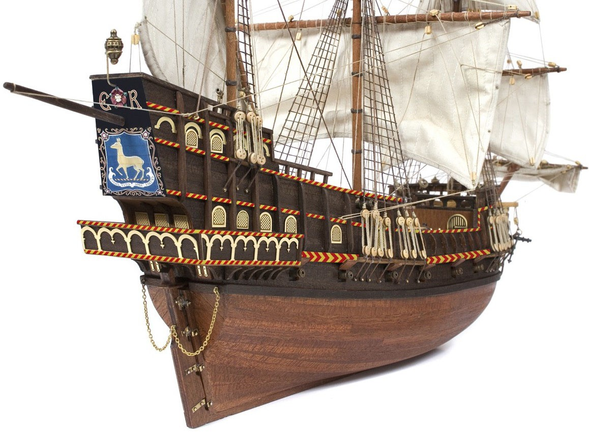 1:100 Scale English Galleon Golden Hind Ship Sir Francis Drake Paper Model Kit