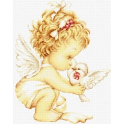 RARE find: Angel with Pigeons SB369 - Cross Stitch Kit by Luca-s