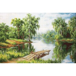 RARE find: A Cool Place SB548 - Cross Stitch Kit by Luca-s