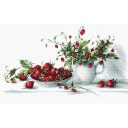 RARE find: Strawberries SB2277 - Cross Stitch Kit by Luca-s