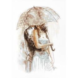 RARE find: Under Umbrella SB2294 - Cross Stitch Kit by Luca-s