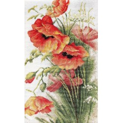 RARE find: Poppies SB213 - Cross Stitch Kit by Luca-s