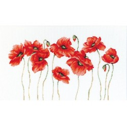 RARE find: Poppies SB2223 - Cross Stitch Kit by Luca-s