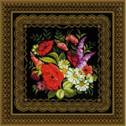 Paveikslas/pagalvė Zhostovo paveikslas - rinkinys siuvinėjimui iš RIOLIS Nr:1642