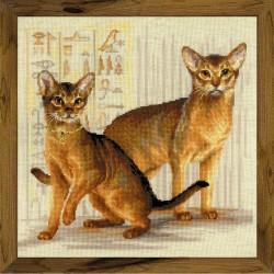 Abisinijos katės - siuvinėjimo rinkinys iš RIOLIS Nr.:1671