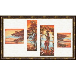 AI013 Orange River Cross Stitch Kit from Golden Fleece