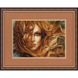 F025 Girl Cross Stitch Kit from Golden Fleece