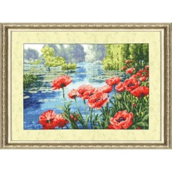 LP021 Summer Colours Cross Stitch Kit from Golden Fleece