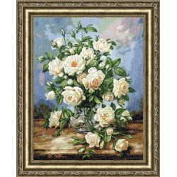 LTS043 White Rose Bouquet Cross Stitch Kit from Golden Fleece