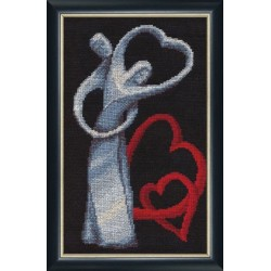 LZH003 Love Cross Stitch Kit from Golden Fleece