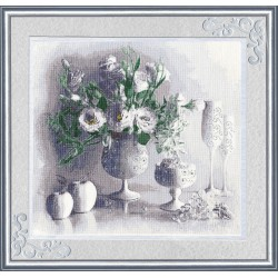 SZH012 White still life Cross Stitch Kit from Golden Fleece