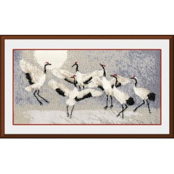 Z033 Crane dance Cross Stitch Kit from Golden Fleece