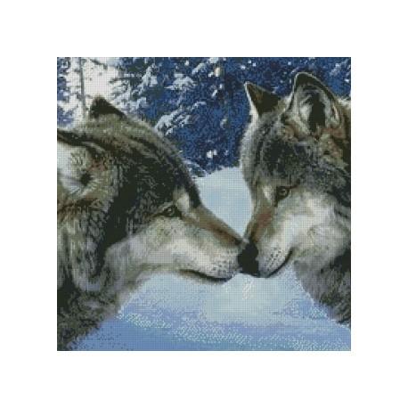 Diamond Painting Wolf Kiss Az 1053 Size 50x50