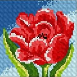 Deimantinis paveikslas Red Tulip AZ-1074 Dydis: 15х15
