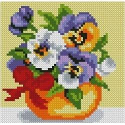 Deimantinis paveikslas Violet Bouquet AZ-1075 Dydis: 15х15