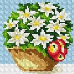 Deimantinis paveikslas Morning Bouquet AZ-1080 Dydis: 15х15